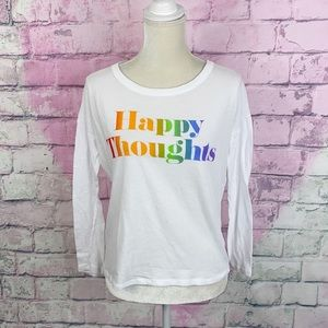 Dreamer x Pink VS happy thoughts white tee XS